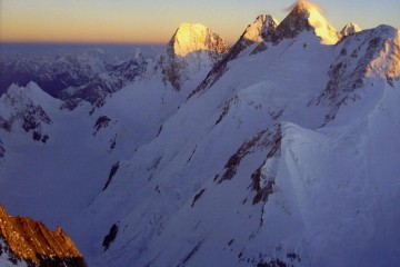 Gasherbrum IV, Gasherbrum III, Gasherbrum II, K2 Sunrise From Gasherbrum I