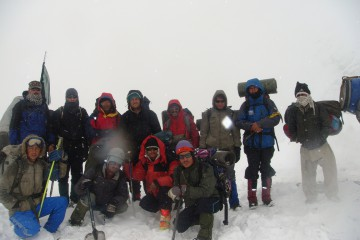 Tirichi mir expedition trekkers and local staff