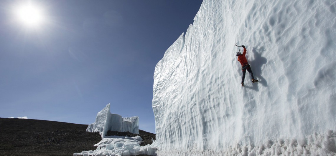 longest glaciers ice-climbing-at-the-summit